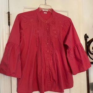 Van Heusen peasant cotton blouse Large